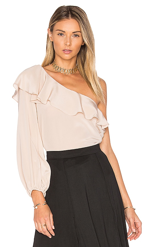 Amanda Uprichard Luella Top in Beige
