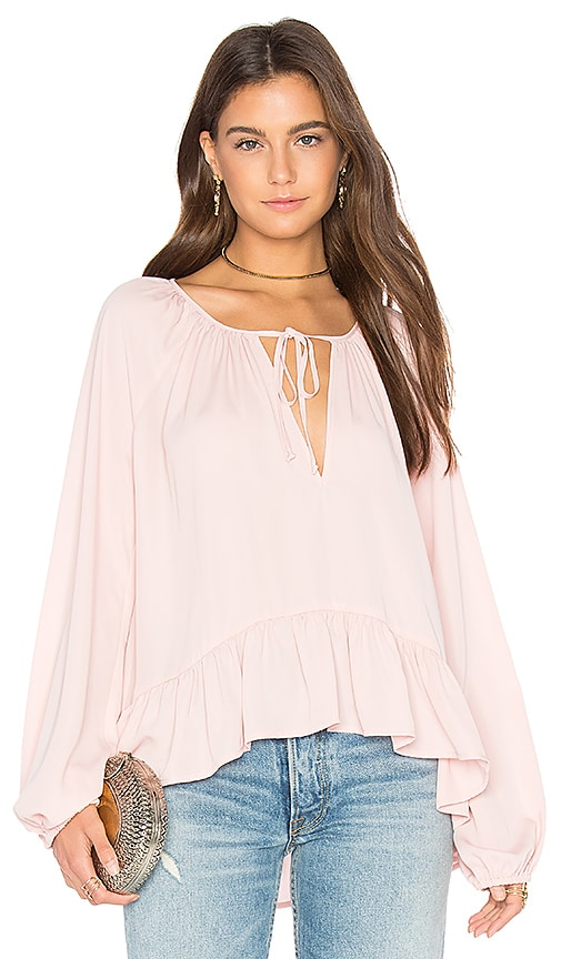 Amanda Uprichard Sage Blouse in Pink