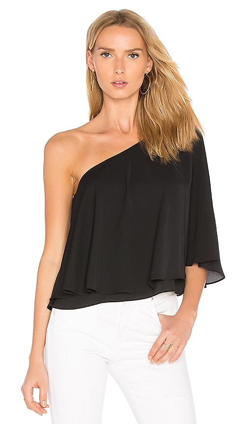 Amanda Uprichard Arosa Top in Black