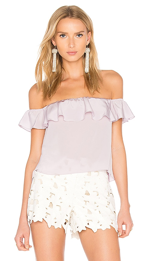 Amanda Uprichard Sleeveless Joanna Top in Lavender