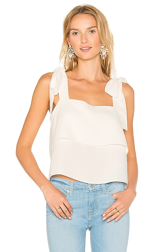 Amanda Uprichard Eli Tank in White