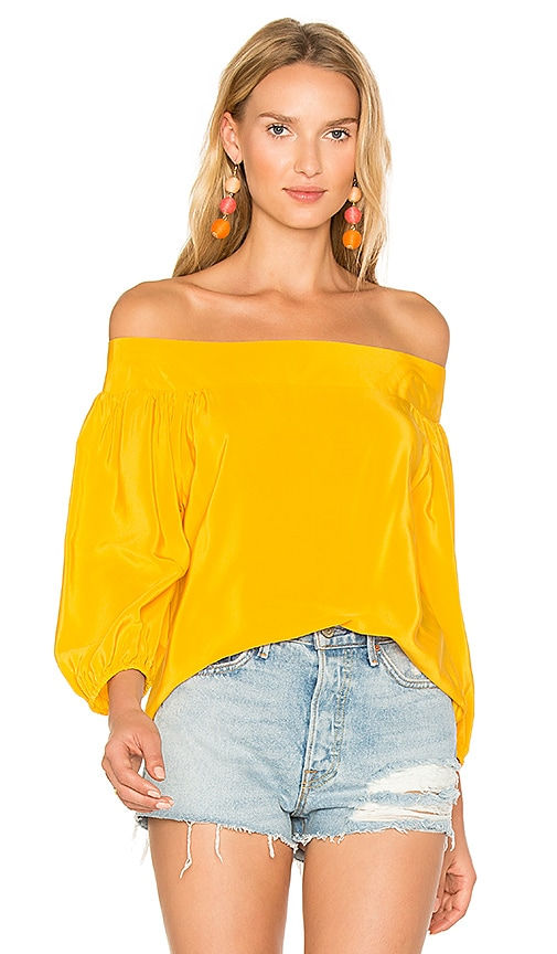 Amanda Uprichard Ronan Top in Yellow