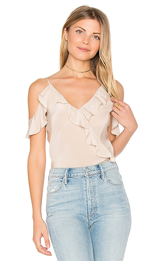 Amanda Uprichard Anika Top in Beige