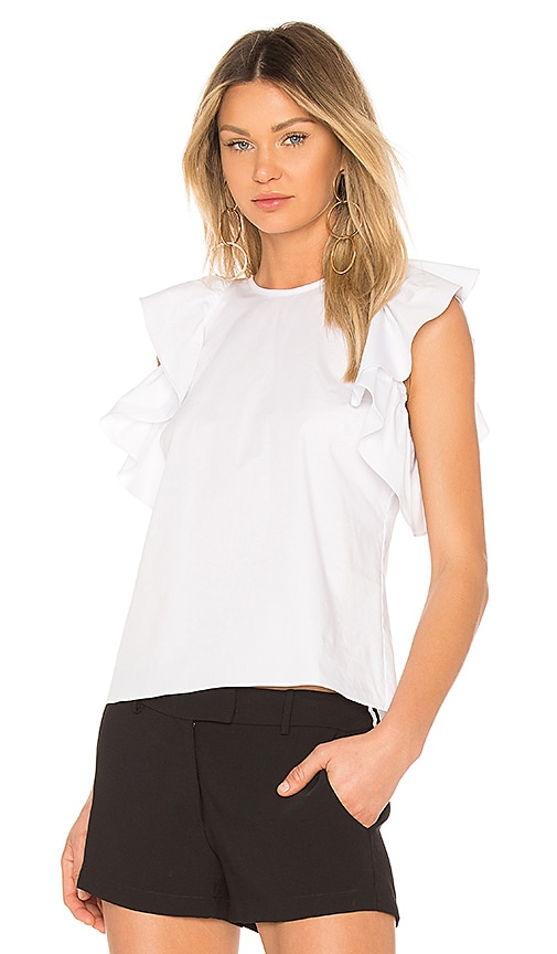 Amanda Uprichard Marshal Top in White