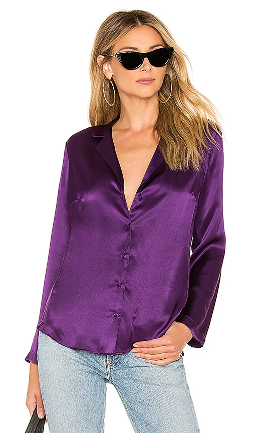 f0e087f7f74d5c Amanda Uprichard Yvonne Blouse in Purple | REVOLVE
