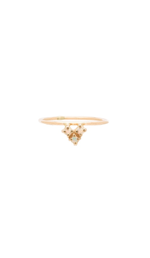 Amarilo Tesselate Ring in Metallic Gold