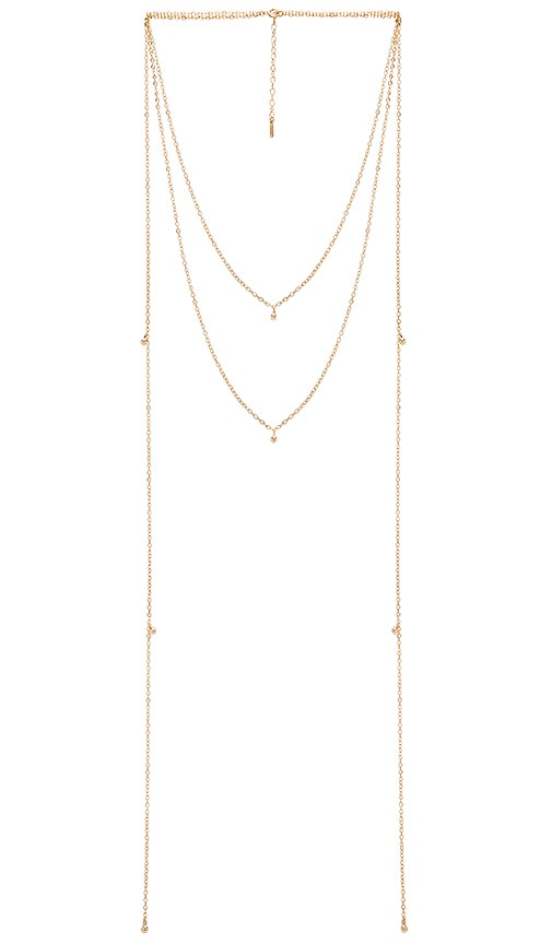 Amarilo Mara Necklace in Metallic Gold