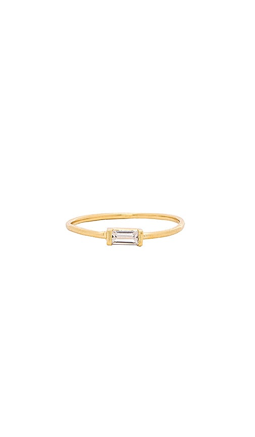 Amarilo Monroe Baguette Ring in Gold