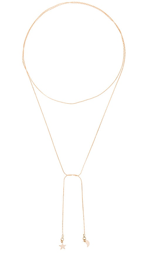 Amarilo To the Moon and Back Necklace in Gold