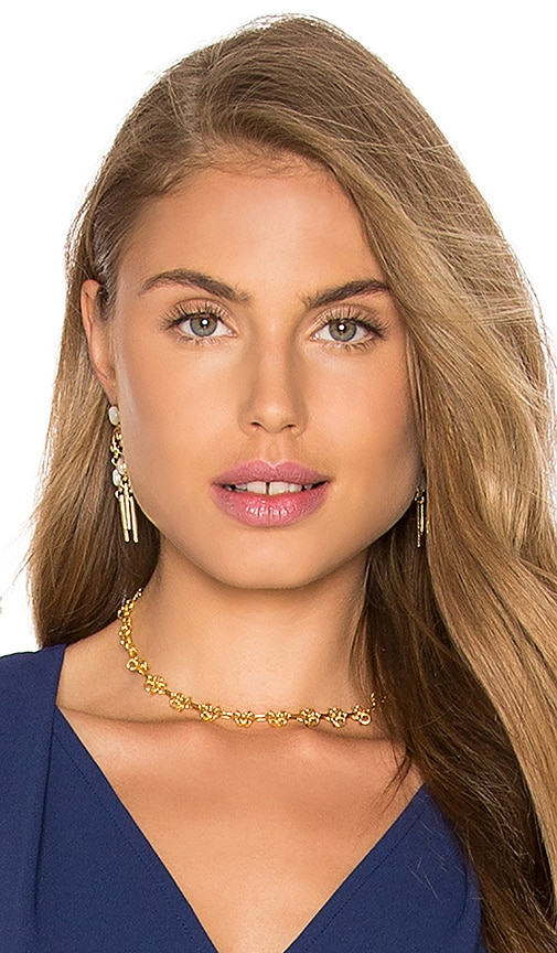 Amarilo Cara Choker in Metallic Gold