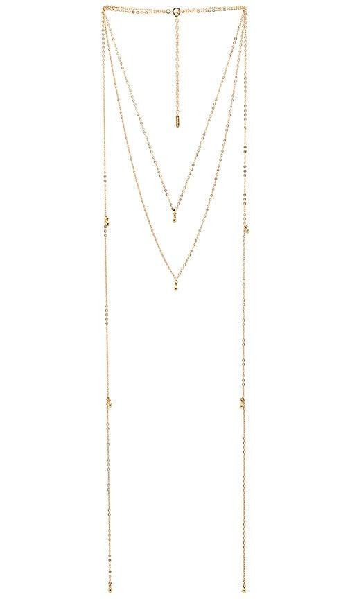 Amarilo Mara Necklace in Metallic Gold