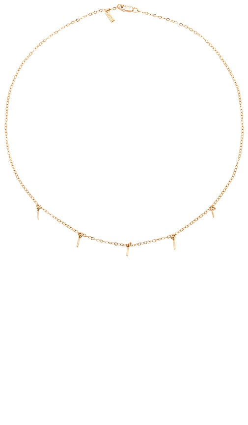 Amarilo 5 Bar Drop Necklace in Metallic Gold