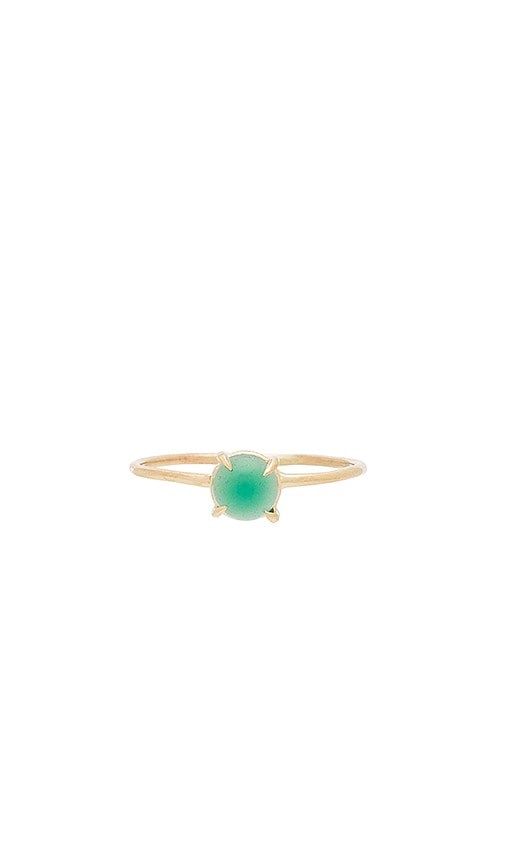Amarilo Jade Ring in Metallic Gold