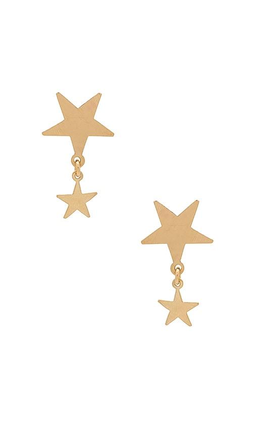 Amarilo Star Sisters Earrings in Metallic Gold