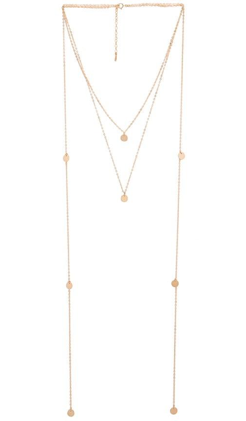 Amarilo Laurel Necklace in Gold Overlay