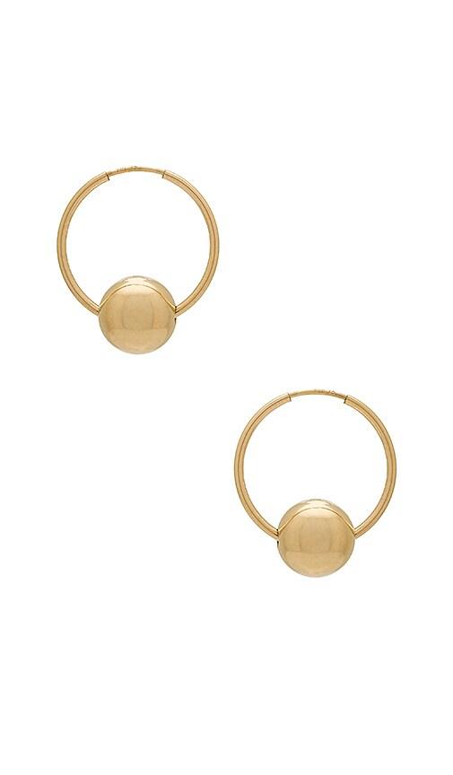 Amarilo Winslet Hoop Earrings in Metallic Gold
