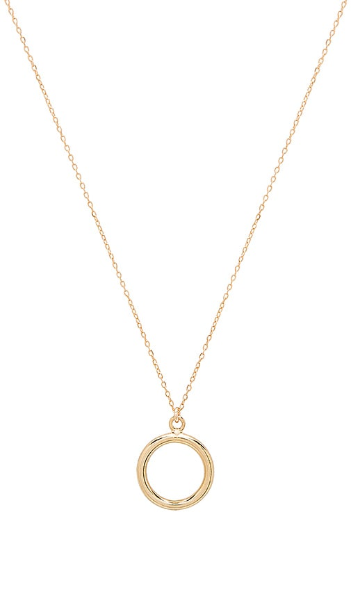 Amarilo O Pendant Necklace in Metallic Gold