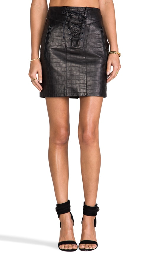 Chazz Croco Skirt