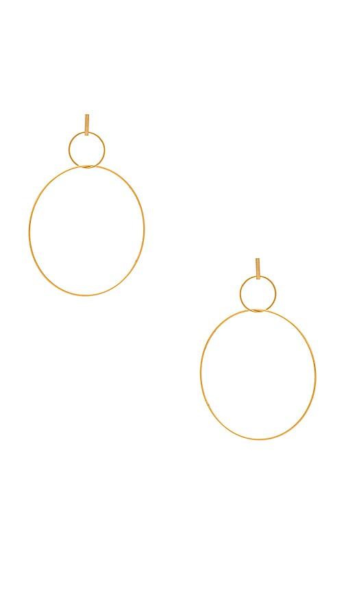 Amber Sceats Grande Phoenix Earrings in Metallic Gold