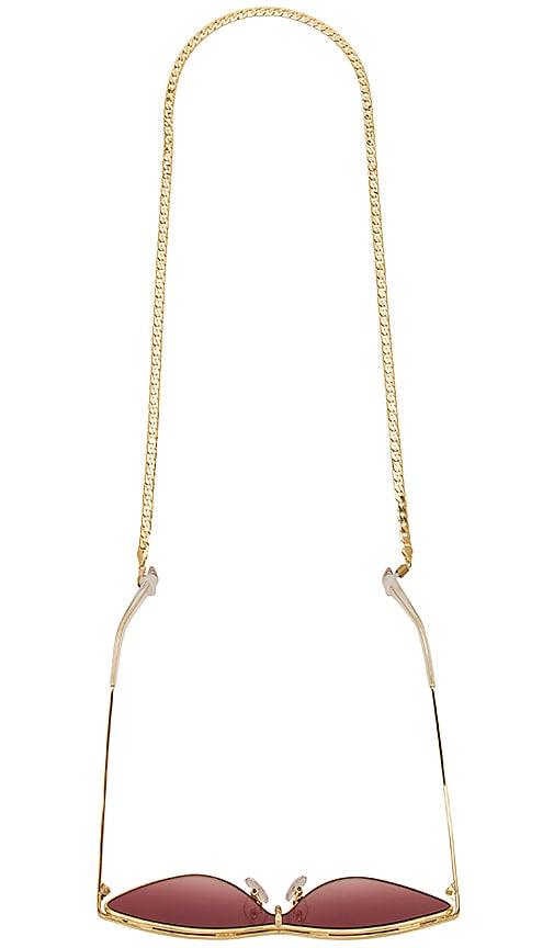 Amber Sceats Camilla Glasses Chain in Metallic Gold