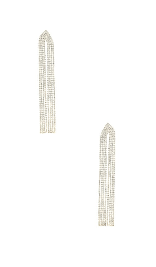 Amber Sceats X REVOLVE Eliza Earrings in Metallic Silver