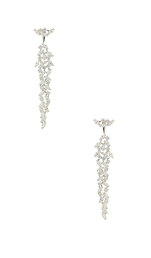 Amber Sceats X REVOLVE Crystal Earrings in Metallic Silver