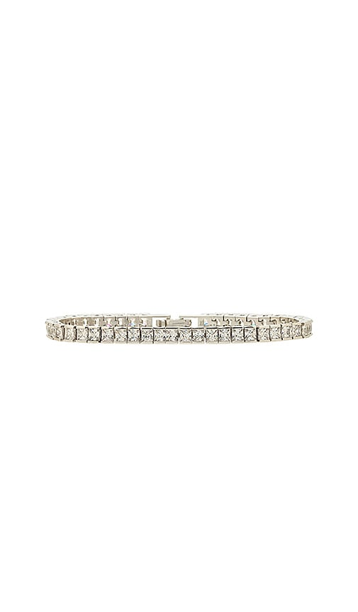 Amber Sceats X REVOLVE Phillipa Tennis Bracelet in Metallic Silver