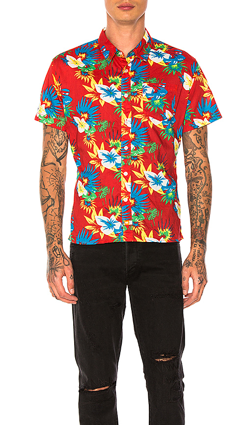Ambsn Frawl Shirt in Red