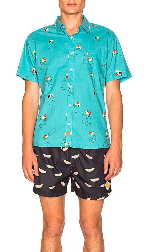 Ambsn Pete Shirt in Turquoise