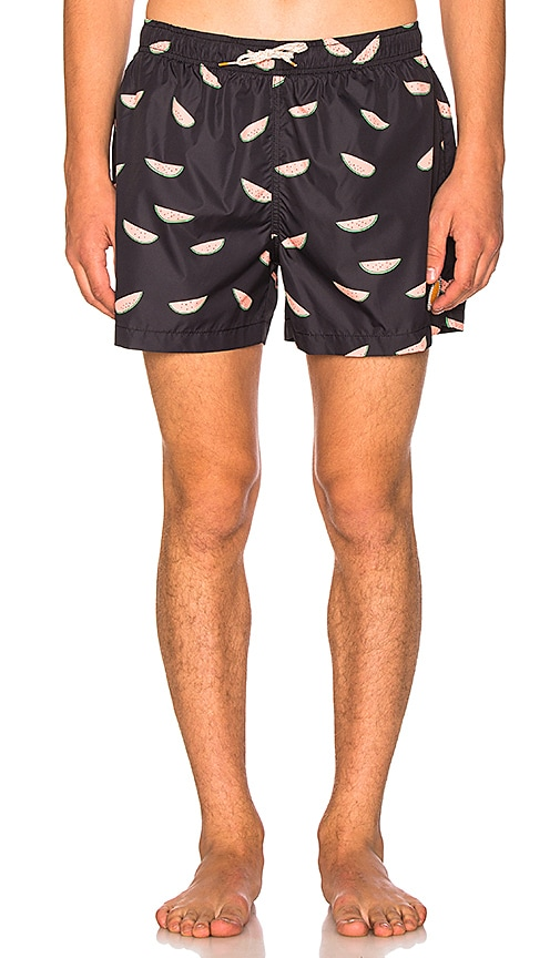Ambsn Melon Packable Shorts in Navy