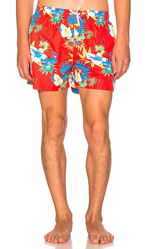 Ambsn Frawl Packable Shorts in Red