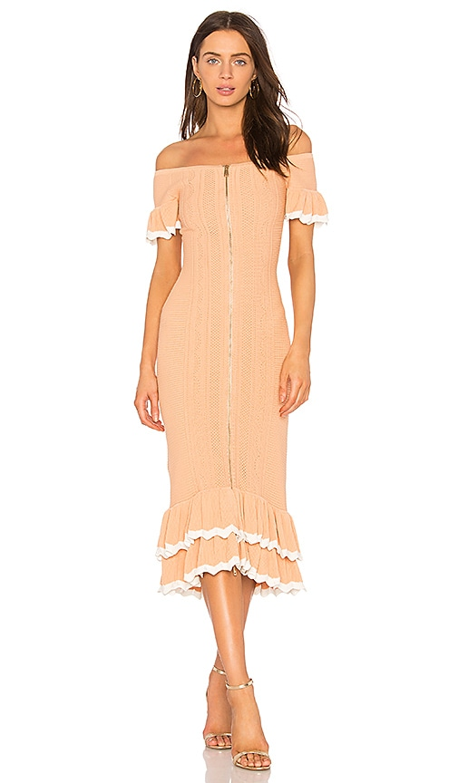 Alice McCall Just Because Dress in Peach