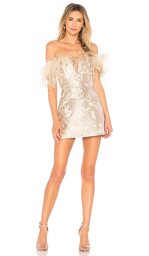 Alice McCall Pop Goes the Party Dress in Metallic Silver