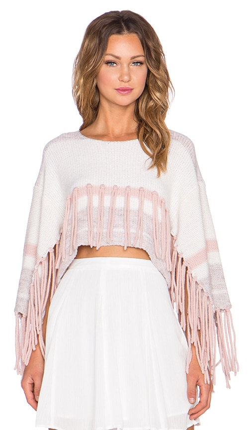 Alice McCall Higher Than The Sun Sweater in Strawberries and Cream