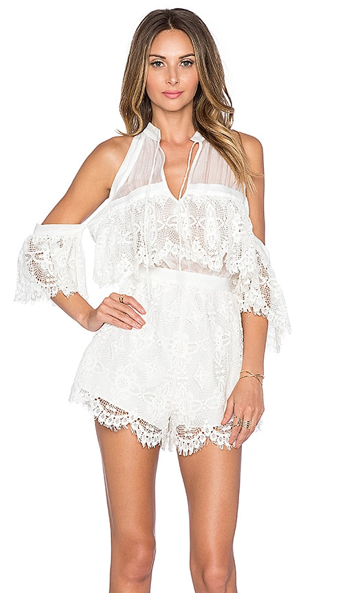 1cea3158681 Alice McCall Better Be Good To Me Playsuit in Seashell