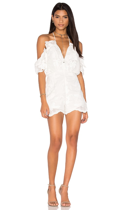 Alice McCall Shake It Off Romper in Porcelain