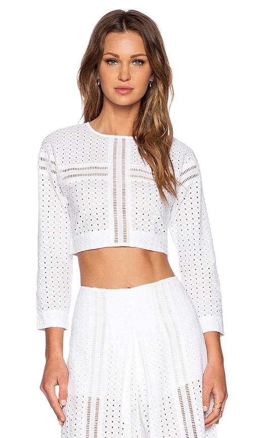 Alice McCall Stopper Crop Top in Chalk