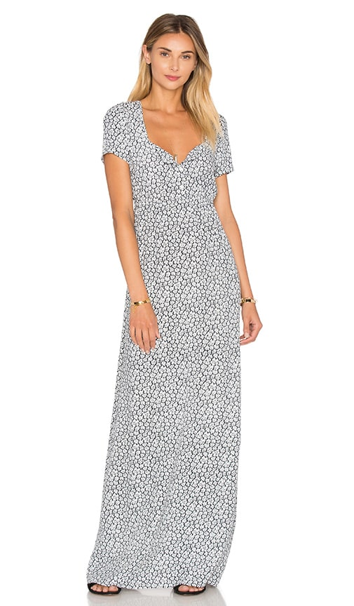 American Vintage Yacqui Maxi Dress in White Anemone