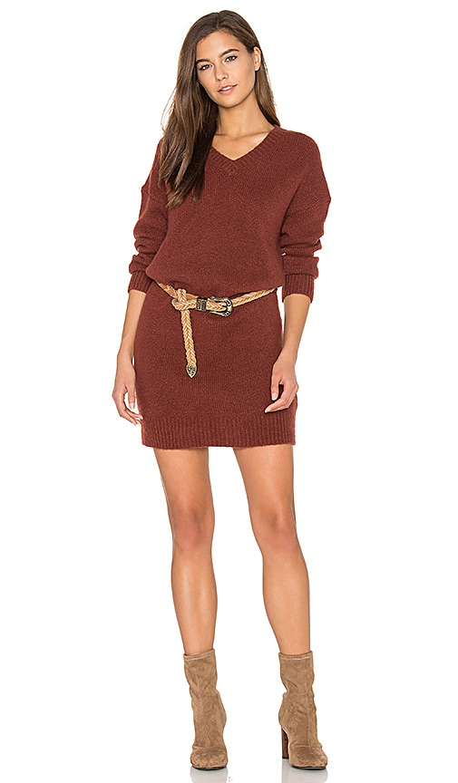 American Vintage Vacaville Sweater Dress in Rust