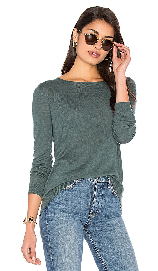 American Vintage Blossom Pullover in Green