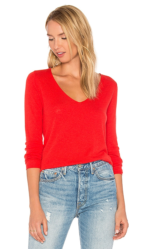 American Vintage Blossom Sweater in Red