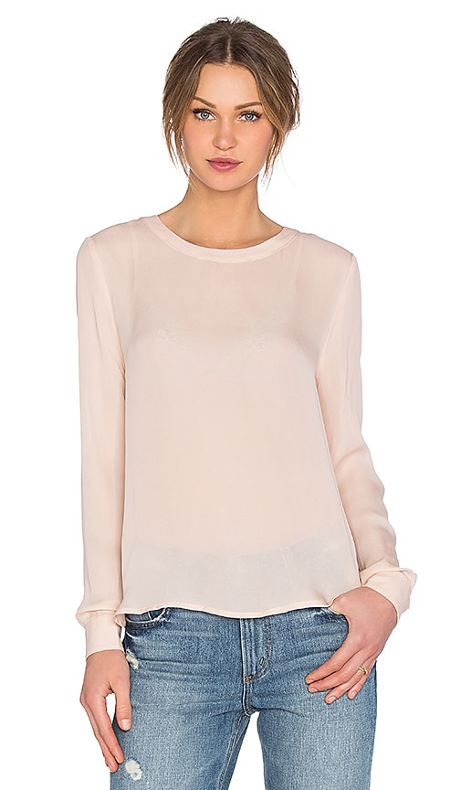 American Vintage Jamestown Long Sleeve Top in Blush