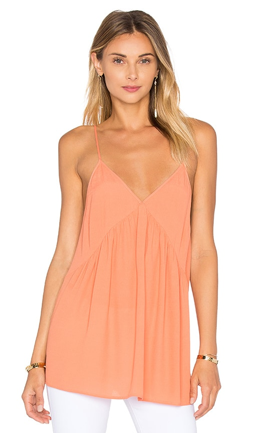 American Vintage Abysville V Neck Tank in Orange