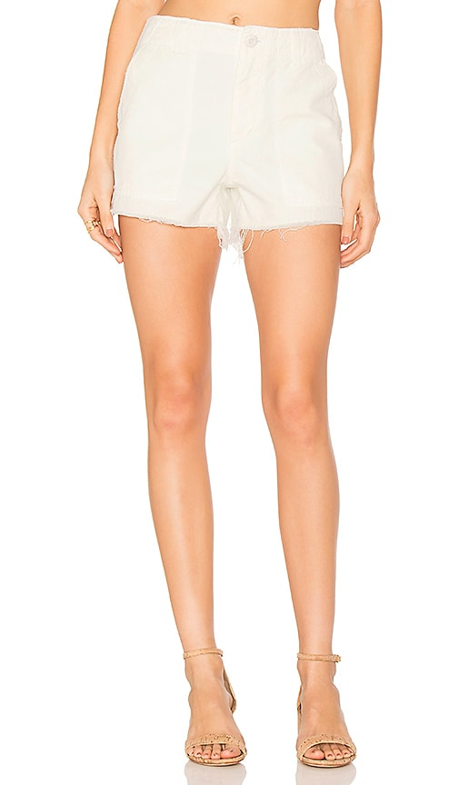 AMO Army Short in White