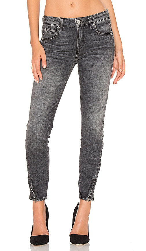 AMO Twist Zip Skinny in Smoke