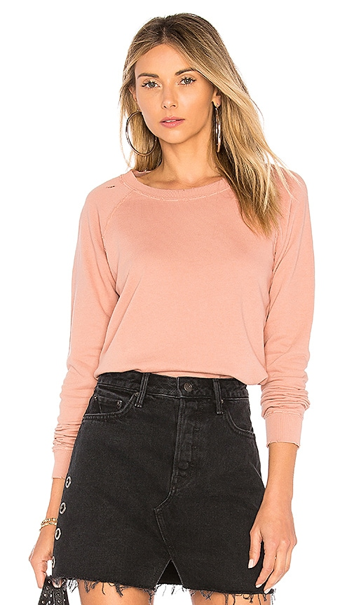 AMO Raglan Sweatshirt in Rose