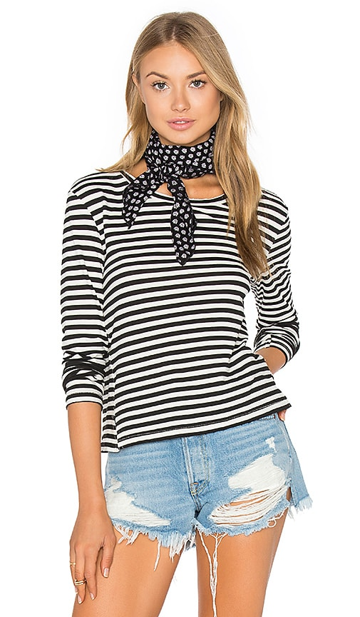 AMO Twist Long Sleeve Tee in Black & White