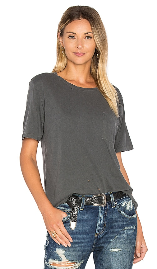 AMO Tomboy Pocket Tee in Charcoal