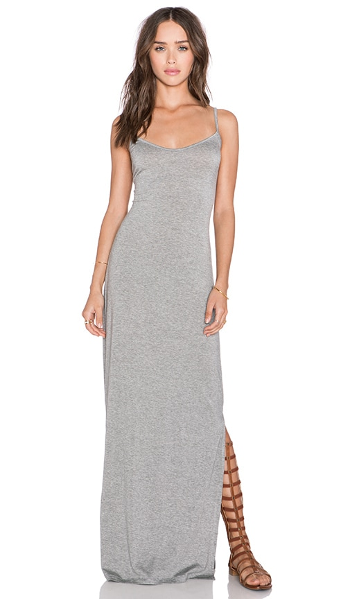 amour vert Brynn Maxi Dress in Heather Grey