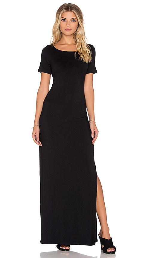 amour vert Theadora Maxi Dress in Black